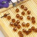 Beads, Selenial Crystal, Crystal, Brown , Faceted Rounds, Diameter 4mm, 10 Beads, [ZZC220]